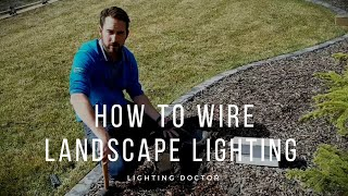How to Install and Wire Low Voltage Outdoor Landscape Lighting