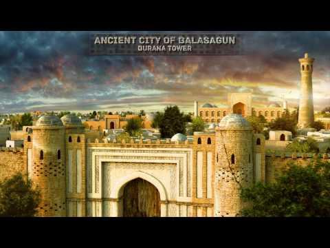 Баласагун и башня Бурана - художественная реконструкция.