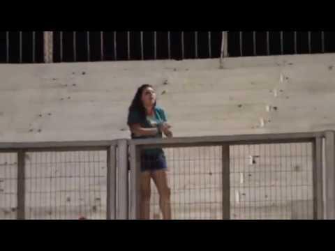 """""""Hincha de Audax sola en Arica 2.059 kms"""" Barra: Los Tanos • Club: Audax Italiano"""