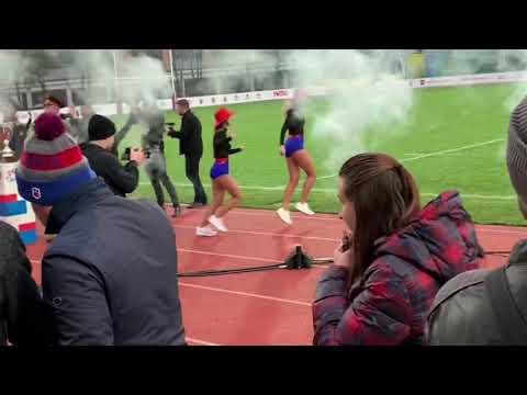 Группа поддержки РК ЦСКА Lucky Demons Cheerleaders на турнире Кубок Вооруженных сил РФ по регби 7