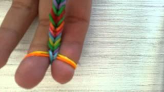 Смотреть онлайн Плетение браслета французская коса из резинок на пальцах