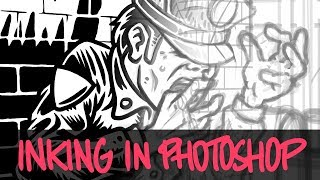 Photoshop Time Lapse: Against Me! Gig Poster Linework