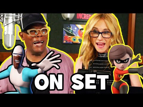 INCREDIBLES 2 Behind The Scenes With The Voice Cast (B-Roll & Bloopers)