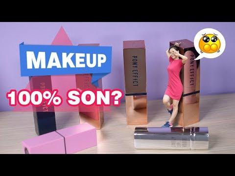 Thử thách: TRANG ĐIỂM HOÀN TOÀN BẰNG SON - 100% SON? Only Lipstick Makeup   Tiny Loly