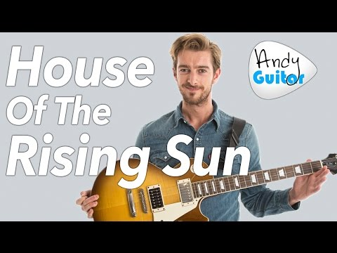 HOUSE OF THE RISING SUN Guitar Lesson // Electric Guitar Tutorial