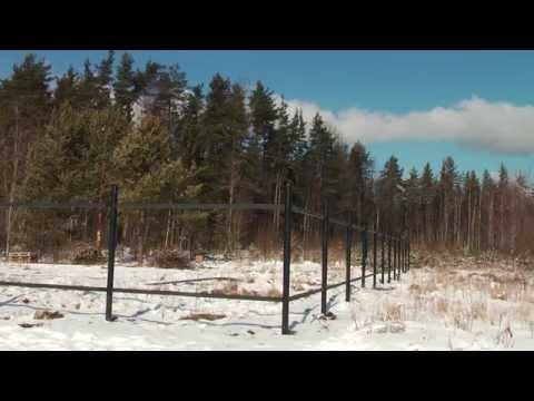 Монтаж фундамента на винтовых сваях под забор