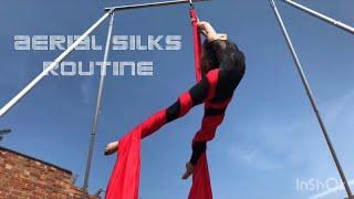 Billie Eilish Ocean Eyes Aerial Silks Routine | X Pole A Frame