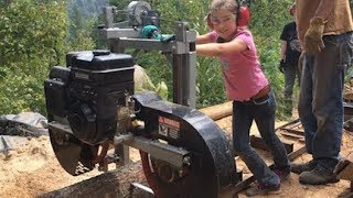 These Kids Rock the SAWMILL! -- Treehouse Build #2