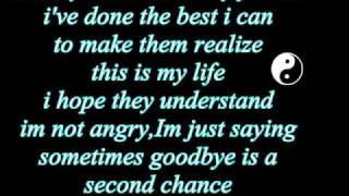 shinedown-second chance lyrics