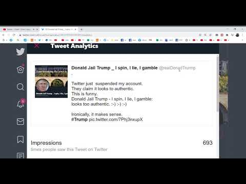 Donald Trump Twitter  Account Suspended