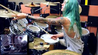 """Video thumbnail of """"Kyle Brian - DragonForce - Through The Fire and Flames (Drum Cover)"""""""