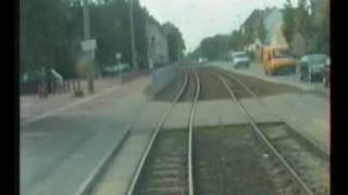 preview picture of video 'Straßenbahn Cottbus linia 3 cz.I'