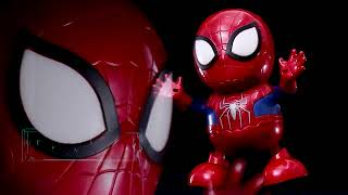 Robot dance SPIDERMAN with LED n Music  nge hits