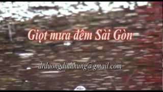 Hạt mưa  đêm Sài Gòn- thơ ddhung - diễn ngâm Hồng Sa