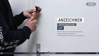 ABUS Montagevideo Tür-Zusatzschloss 2130