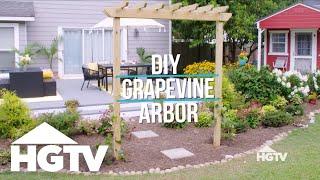 Garden Love | DIY Grapevine Arbor - HGTV