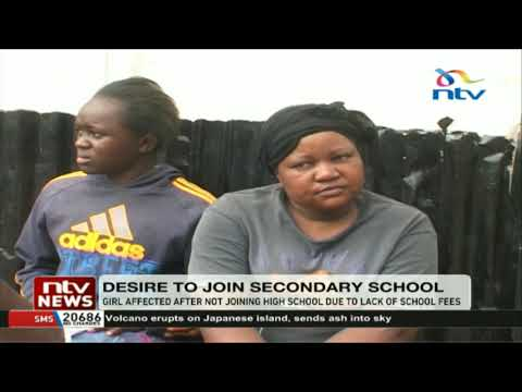 Girl affected after not joining high school due to lack of school fees