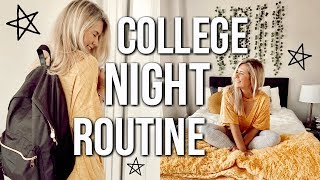 college night routine 2018