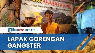 Cerita Unik Lapak Gorengan Gangster di Pasar Ujungberung, Pemilik: Itu Pemberian dari Mahasiswa UIN