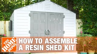 How To Build A Shed For Outdoor Storage Using A Resin Shed Kit | The Home Depot