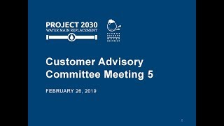 February 26, 2019 Customer Advisory Committee Meeting