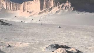 car racing through the Atacama desert