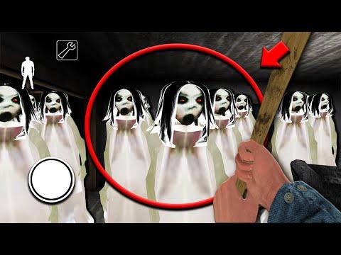 Granny vs 200 Slendrina Clones in Granny Horror Game... (SLENDRINA ARMY in GRANNY) (видео)