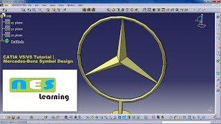 CATIA V5/V6 Tutorial | Symbol Design full step by step Mercedes-Benz