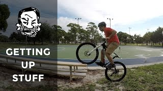 How to get up stuff on a trials bike - MTB Trials for beginners