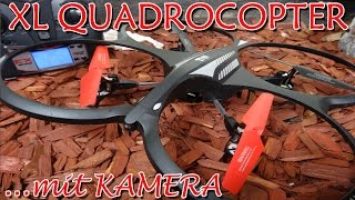 """""""RC XL QUADROCOPTER MIT KAMERA FERNGESTEUERT 2,4 Ghz """" -Vorstellung"""