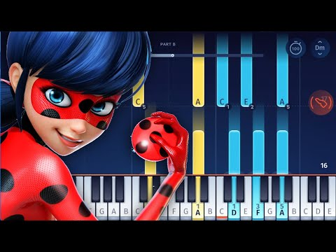 MIRACULOUS LADYBUG - Theme Song - Piano Tutorial / Piano Cover