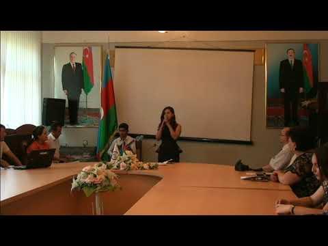 Mingecevir Turzim Kollecinde Azerbaycan Xalq Cumyetinin 100 iliyi konfransinda telebenin ifasi