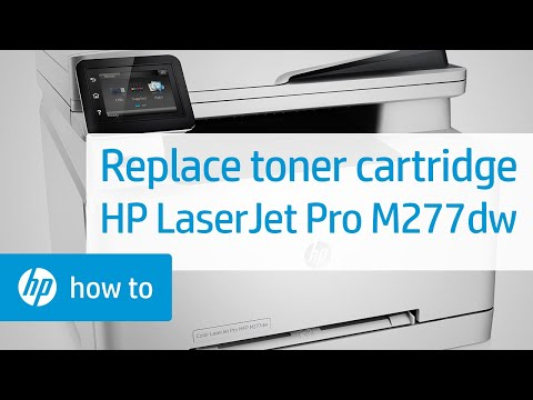 Replacing a Toner Cartridge in the HP Color LaserJet Pro MFP M277dw