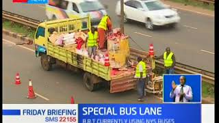 Mixed reactions exhibited by Kenyans as KeNHA marks special bus lanes