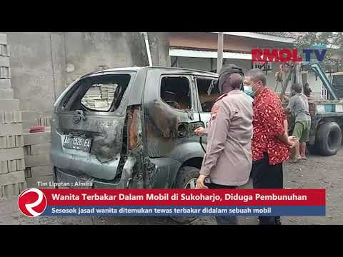 Wanita Terbakar Dalam Mobil di Sukoharjo, Diduga Korban Pembunuhan