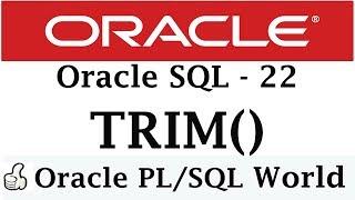 What is true regarding trim function