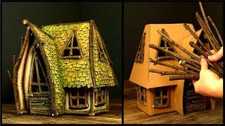 ❣DIY Cardboard Fairy House Using Twigs❣