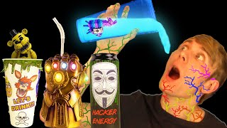 DON'T CHOOSE THE WRONG DRINK (DO NOT DRINK) Fortnite+FNAF+Hacker+Infinity Gauntlet DIY DRINKS.