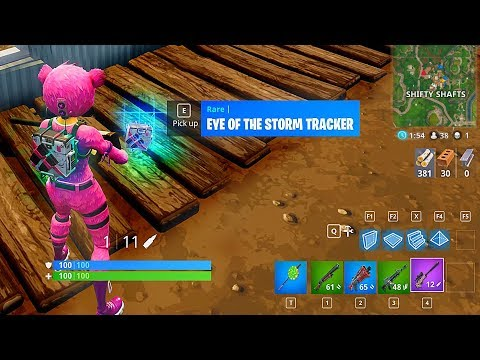 fortnite s latest update accidentally included a storm tracking backpack - fortnite ingame tracker