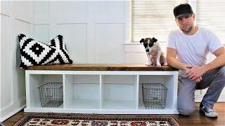IKEA HACK - The Shiplap-style Storage Bench