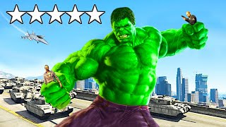 Playing GTA 5 As The HULK (Superhero Mod)
