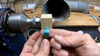 Ring aus Aluwabe in Kunstharz herstellen