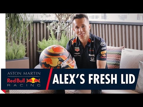Fresh Lid For Spa | Alex Albon Reveals His New Race Helmet