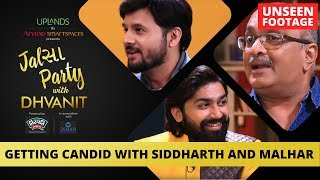 Getting Candid With Siddharth and Malhar | Unseen Footage | RJ Dhvanit
