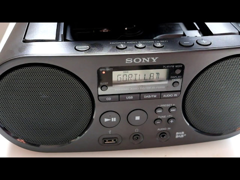Sony ZS-PS55B DAB+ FM CD MP3 WMA Player boom box review.