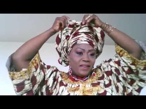 How to tie Nigeria Ankara Gele /Ronke Beauty Marks Cosmetics
