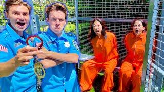 The BOYS locked us in PRISON!!