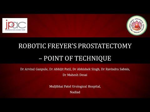 Robotic Freyer's Prostatectomy: Point of technique