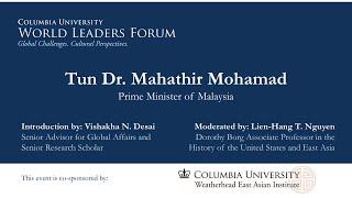 Tun Mahathir Speaking at the World Leaders Forum held at Columbia University