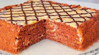 БЕЗ ВЫПЕЧКИ. Обалденный Торт на СКОРУЮ  Руку!!! Очень Вкусно!